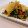 Gemüse Wrap mit Käse überbacken